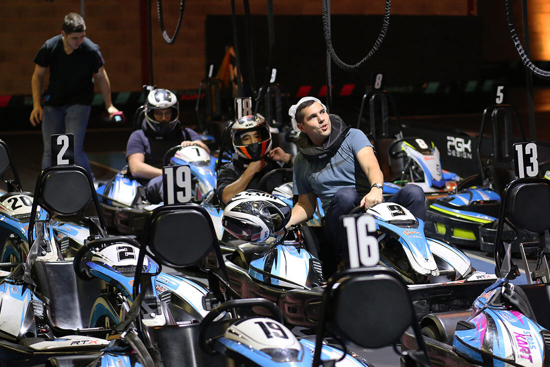 L'équipe VDN fait du karting